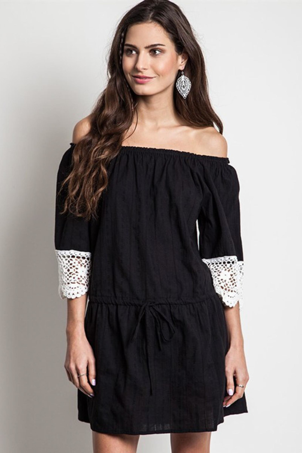 People Outfitter Black Crochet Dress - Main Image