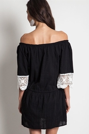 People Outfitter Black Crochet Dress - Side cropped