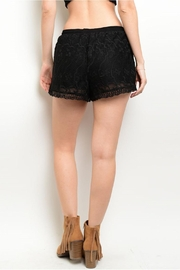 Mustard Seed Black Crochet Shorts - Front full body