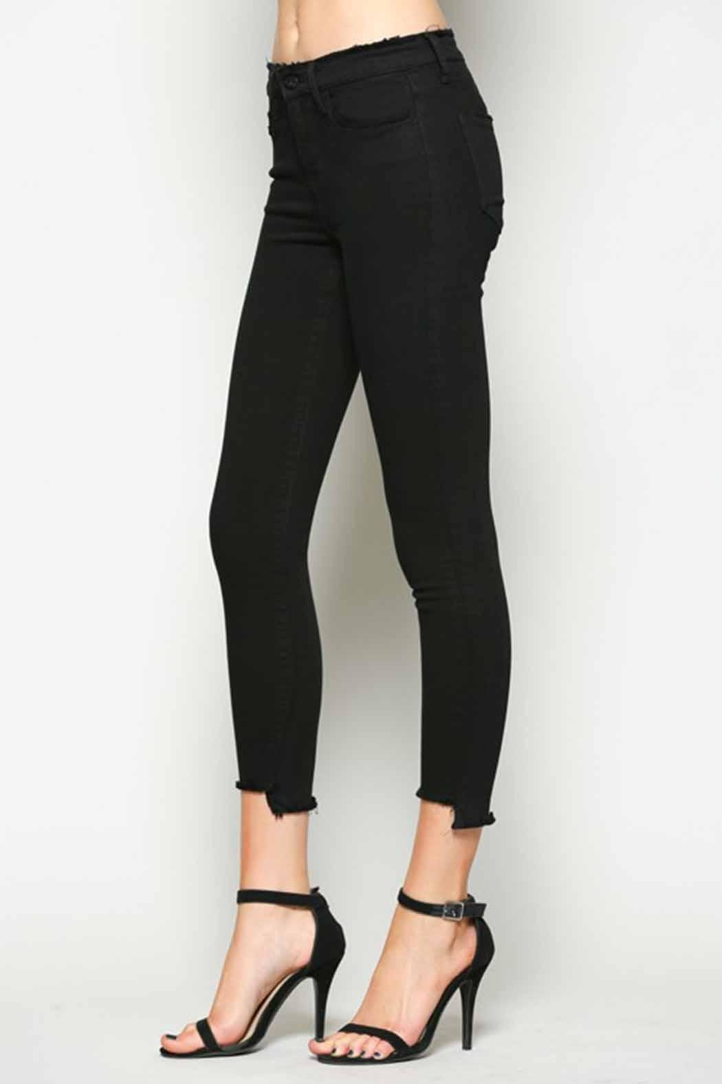 Vervet Black Crop Denim - Front Full Image