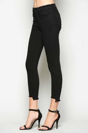 Vervet Black Crop Denim - Front full body