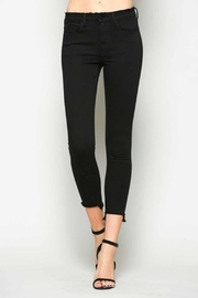 Vervet Black Crop Denim - Front cropped