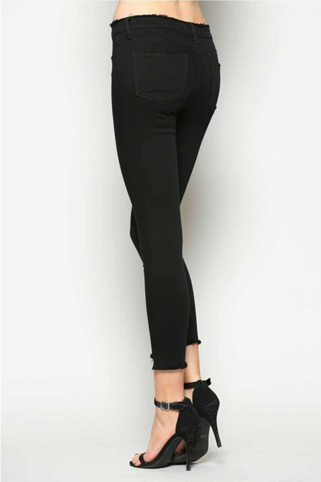 Vervet Black Crop Denim - Side Cropped Image