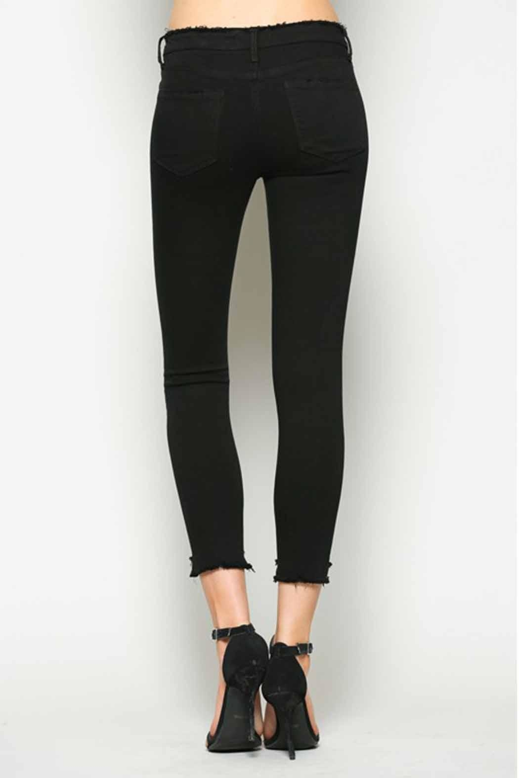 Vervet Black Crop Denim - Back Cropped Image