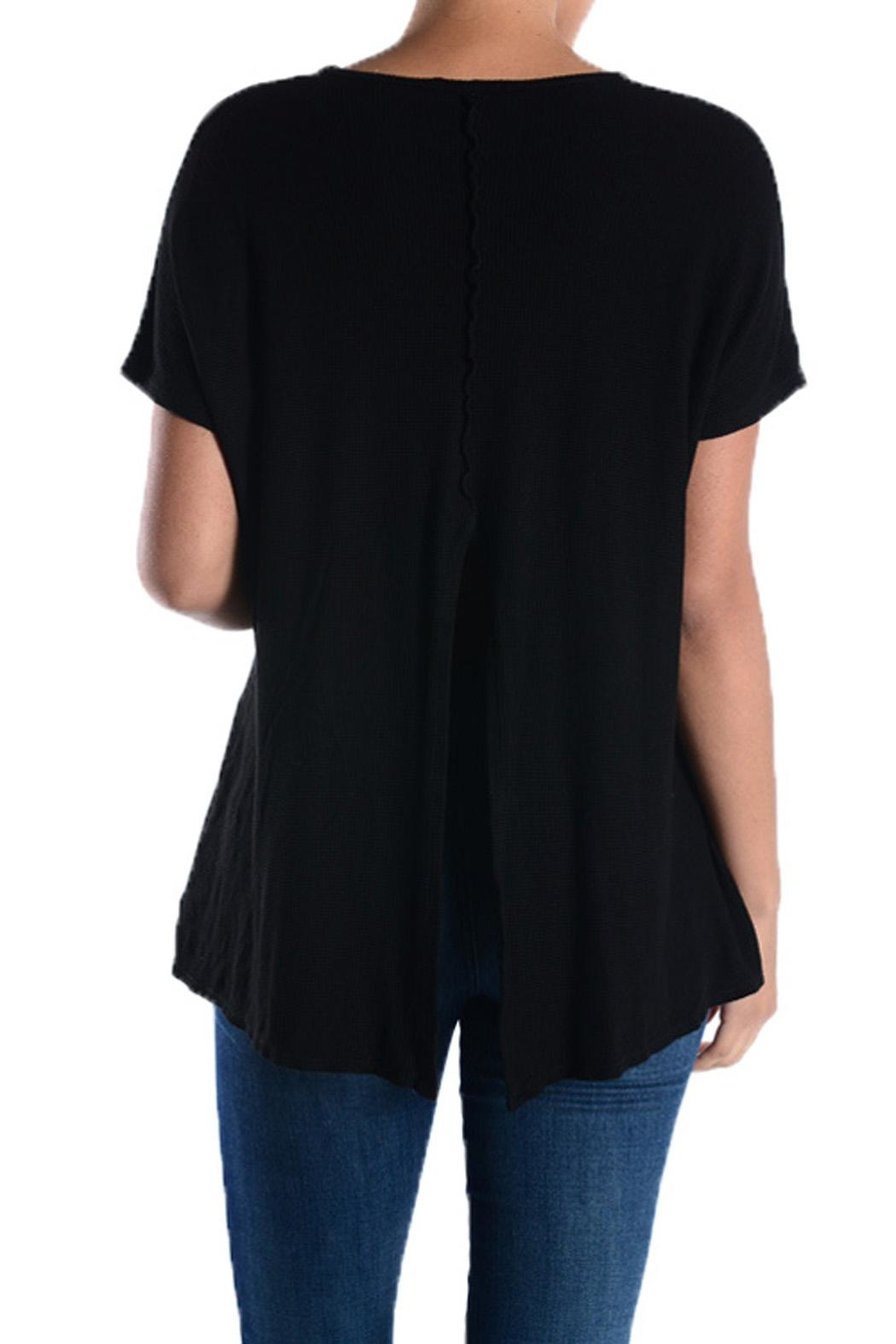 T Party Black Crop-Thermal Top - Front Full Image