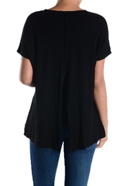 T Party Black Crop-Thermal Top - Front full body