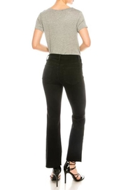 just black Black Cropped Jeans - Front full body