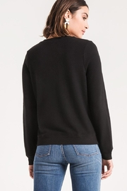 z supply Black Crossfront Sweater - Front full body