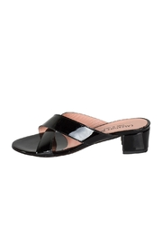 Lady Doc Black Crossover Heeled-Slide - Product Mini Image