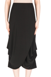 Joseph Ribkoff  Black Crossover Skirt - Product Mini Image