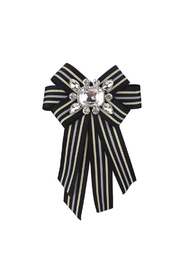 Madison Avenue Accessories Black Crystal Broach - Product Mini Image