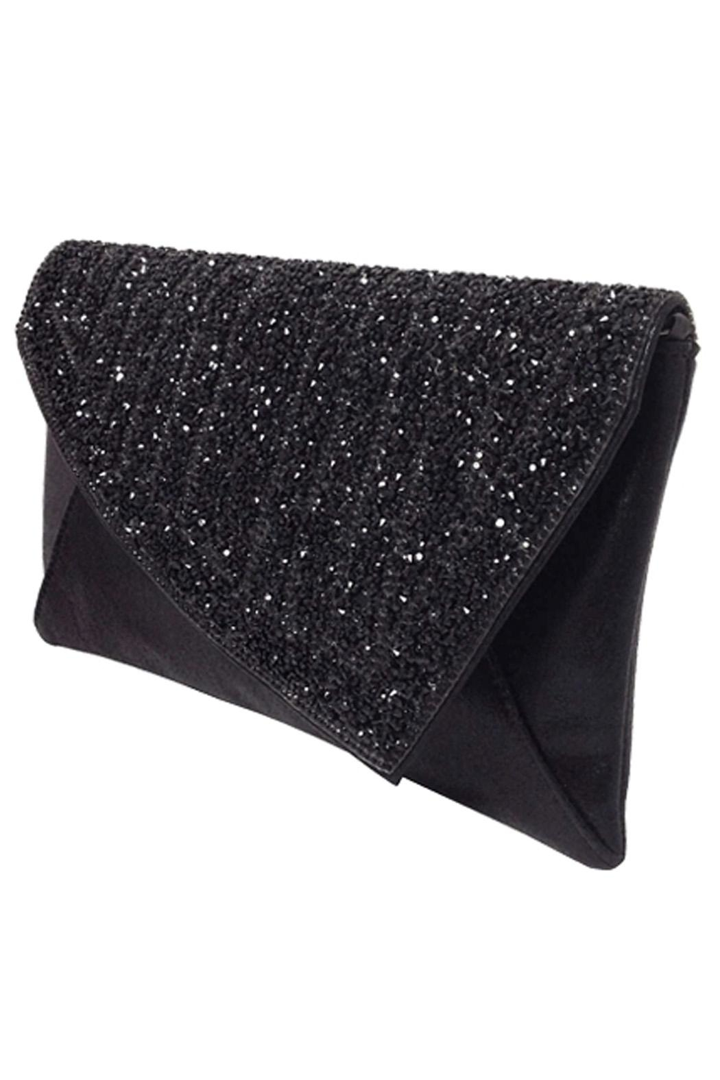 Wild Lilies Jewelry  Black Crystal Clutch - Front Full Image
