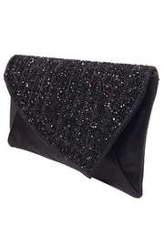 Wild Lilies Jewelry  Black Crystal Clutch - Front full body