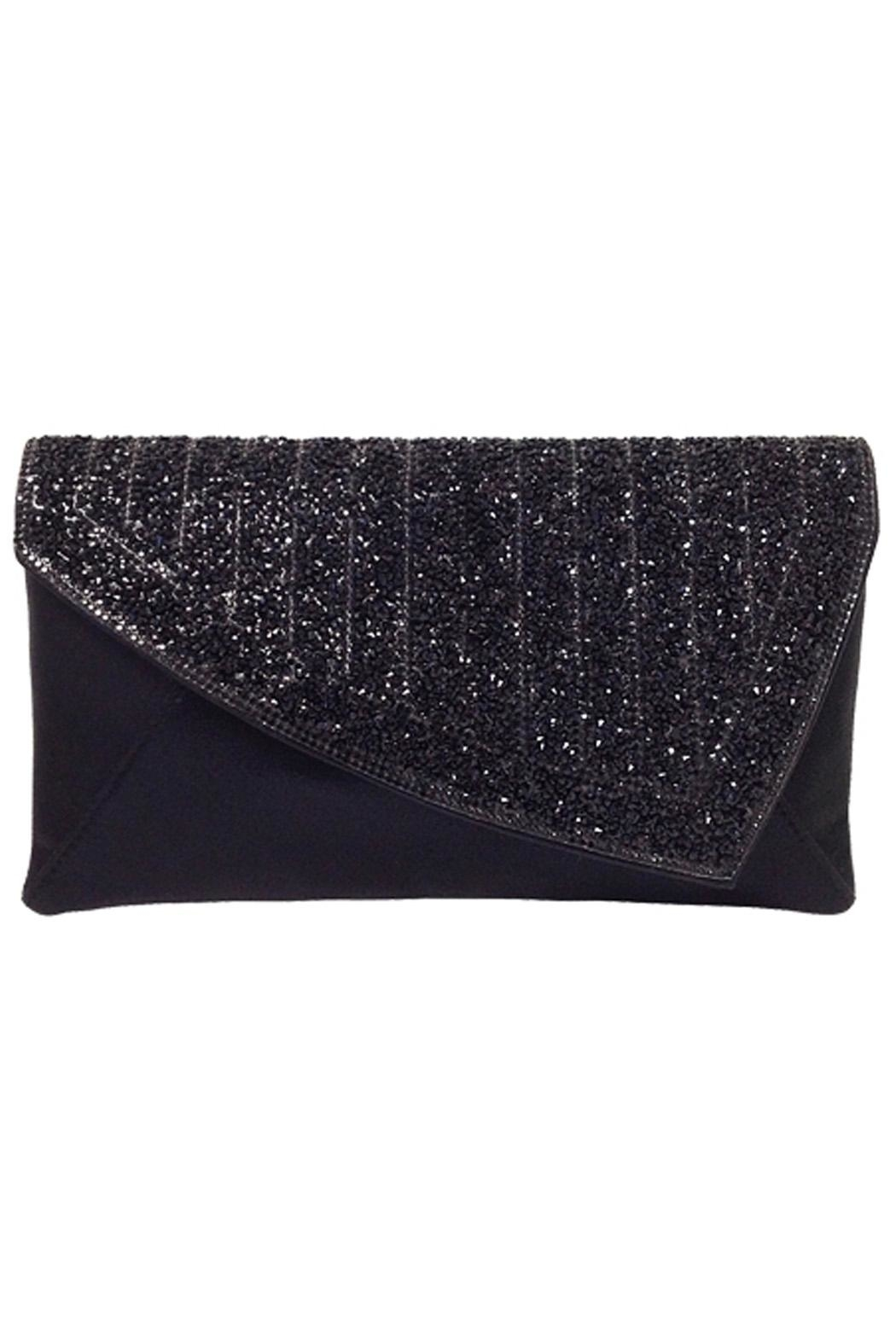 Wild Lilies Jewelry  Black Crystal Clutch - Front Cropped Image