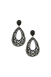 Lets Accessorize Black-Crystal Drop Earrings - Product Mini Image