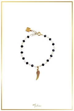 Malia Jewelry Black-Crystals Wing Bracelet - Product List Image