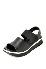 The Flexx Black Cushy Sandal - Front cropped