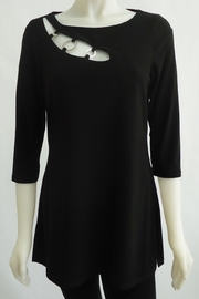 Michael Tyler black cut out tunic with silver accents - Product Mini Image