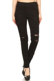 Color 5 Black Denim Jeans - Product Mini Image