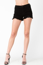 Sneak Peek Black Denim Shorts - Product Mini Image