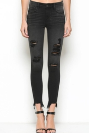 Hidden Jeans Black Distressed Skinny - Product Mini Image