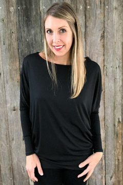 Favlux Black Dolman Top - Alternate List Image