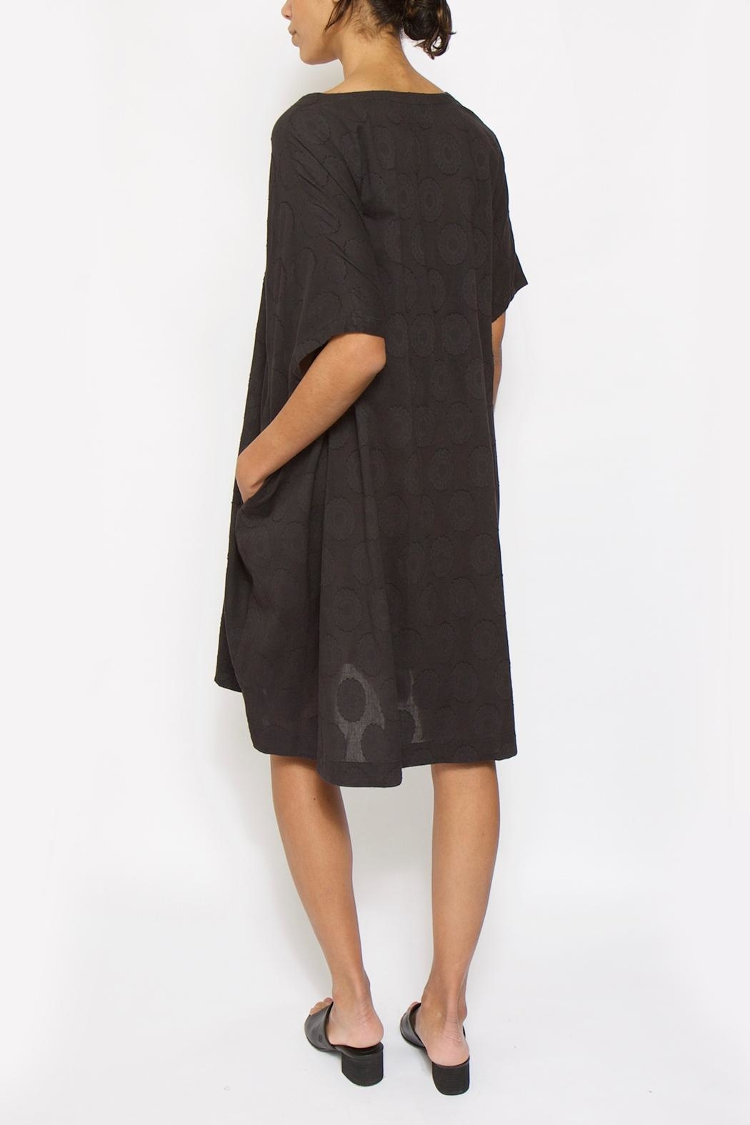 Moyuru Black Dot Dress - Side Cropped Image