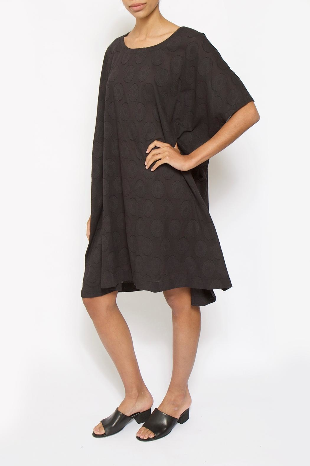 Moyuru Black Dot Dress - Front Cropped Image