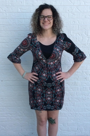 Aryeh Black Dotted Dress - Product Mini Image