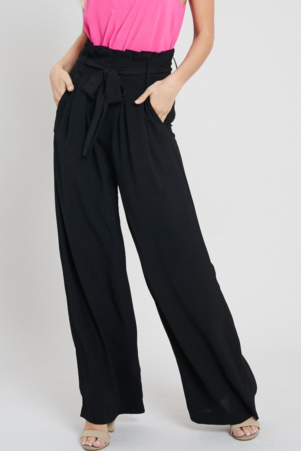 eesome Black Dress Pants - Front Cropped Image