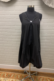 Staples Black Dress with Dot Liner - Product Mini Image