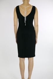 Joseph Ribkoff Black dress with embellished back detail - Front full body