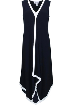 Joseph Ribkoff black dress with white trim - Alternate List Image