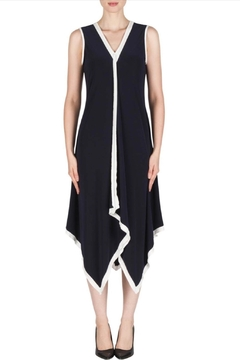 Joseph Ribkoff black dress with white trim - Product List Image