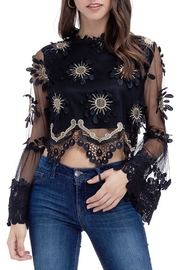 JJ'S Fairyland Black Dressy Crop-Blouse - Product Mini Image