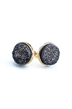 JaxKelly Black Druzy Cluster Earrings - Product List Image