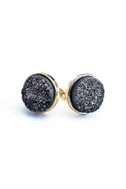 JaxKelly Black Druzy Cluster Earrings - Product Mini Image
