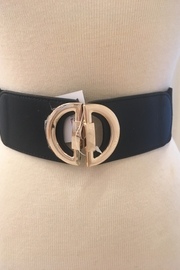Frank Lyman black elastic gold closure belt - Product Mini Image