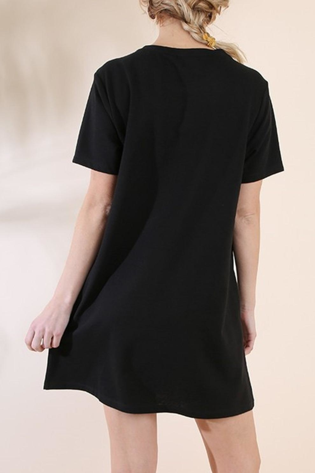 Umgee USA Black Embroidered Dress - Front Full Image