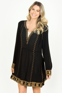 Shoptiques Product: Black Embroidered Dress
