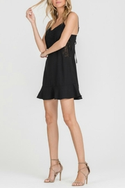 Lush Black Embroidered Dress - Side cropped