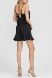 Lush Black Embroidered Dress - Back cropped