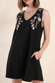 Umgee USA Black Embroidered Dress - Product Mini Image