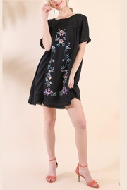 Umgee Black Embroidered Dress - Product Mini Image