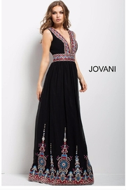Jovani PROM Black Embroidered Gown - Product Mini Image