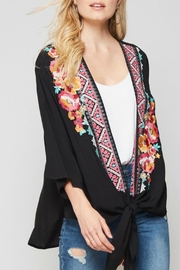 Andree by Unit Black Embroidered Kimono - Product Mini Image