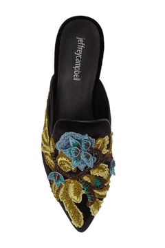 Jeffrey Campbell Black Embroidered Mule - Alternate List Image