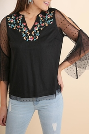 Umgee USA Black Embroidered Top - Product Mini Image