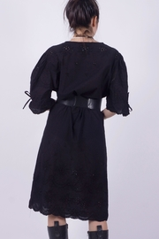 NU New York Black Eyelet Dress - Front full body