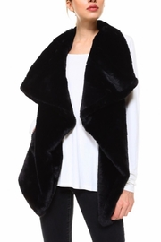 TCEC Black Faux-Fur Vest - Product Mini Image